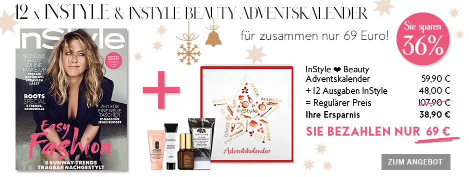 InStyle Sparpaket - Exklusiv 36% sparen - InStyle ❤ Beauty Adventskalender