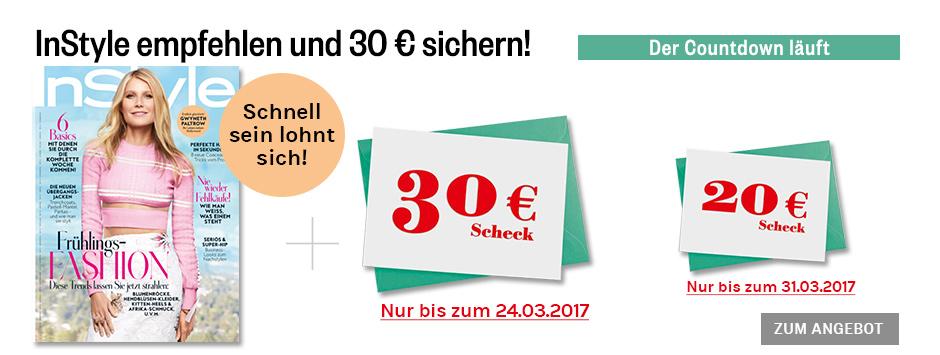Instyle empfehlen + 30€ sichern