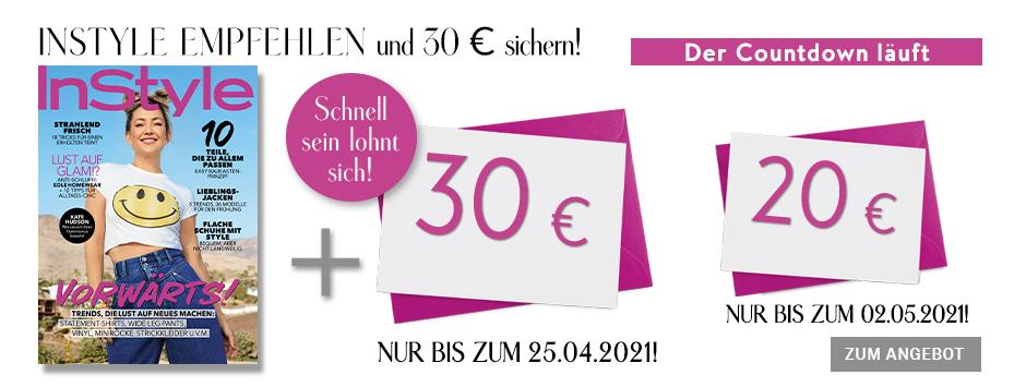 InStyle - Countdown Prämien-Abo und 30 € Scheck
