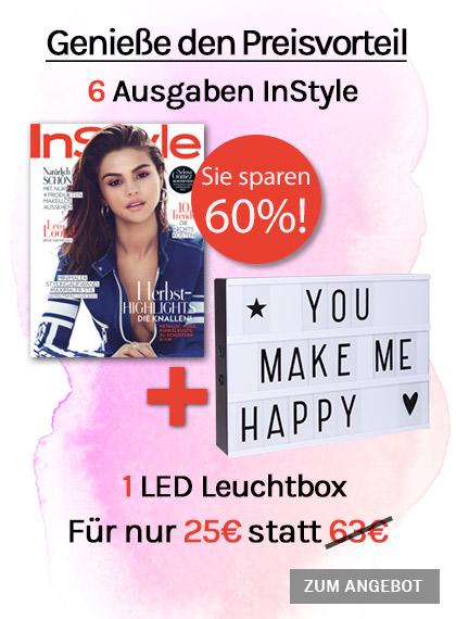 InStyle 6 Ausgaben + 1 LED Leuchtbox für nur 25€