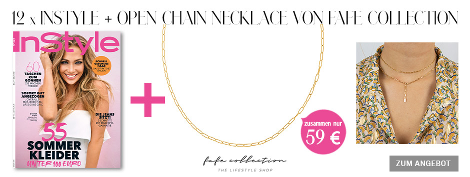 InStyle - Jahresabo + Open Chain Necklace von Fafe Collection