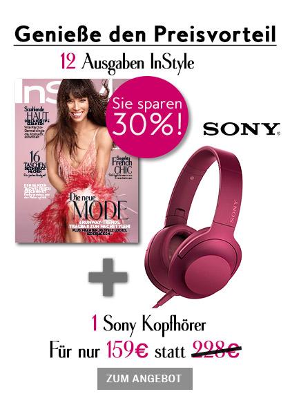 InStyle - StickyAd Sony Kopfhörer