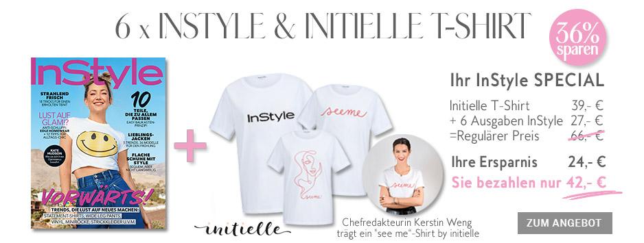 InStyle - Special Halbjahresabo - initielle T-Shirt sichern!